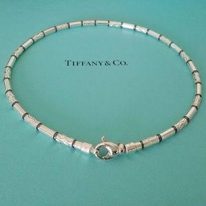 "Tiffany & Co Silver hematite necklace Germany 16"""